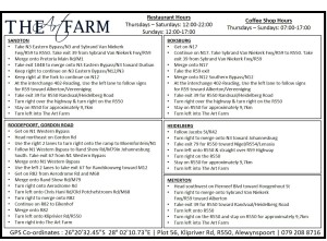 The Art Farm Directions & Times
